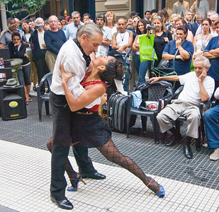 BA101. Tango Dancers, Dance demonstration, Microcentro area,
