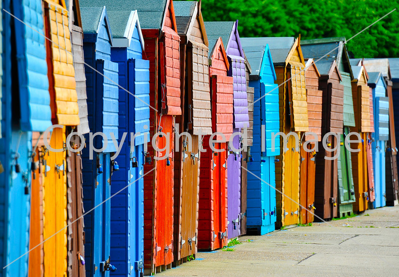 Beach huts in Westgate on Sea, Kent