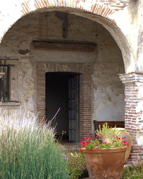 Capistrano mission doorway