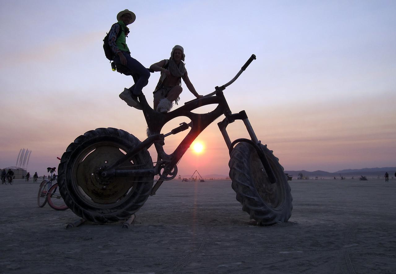 Big bike at sunrise