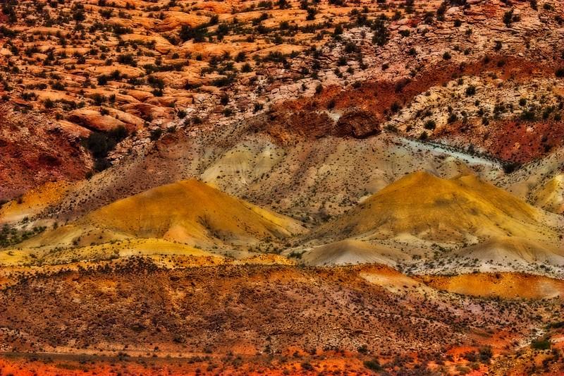 Sandstone color. Arches National Park, Utah.<br /> Photo © Carl Clark