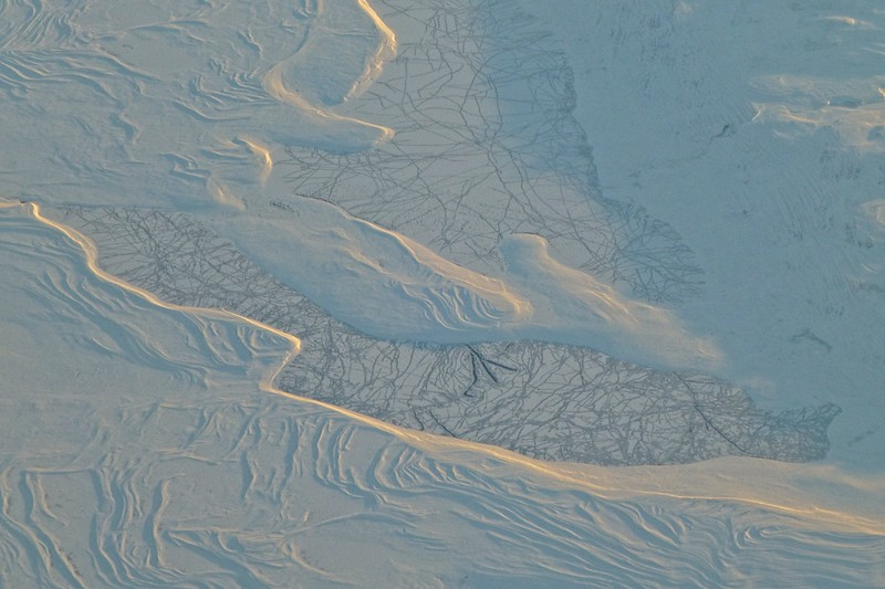 Canadian tundra aerial.<br /> Photo © Carl Clark