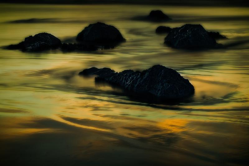 Sunset, Bandon, Oregon beach.<br /> © Cindy Clark