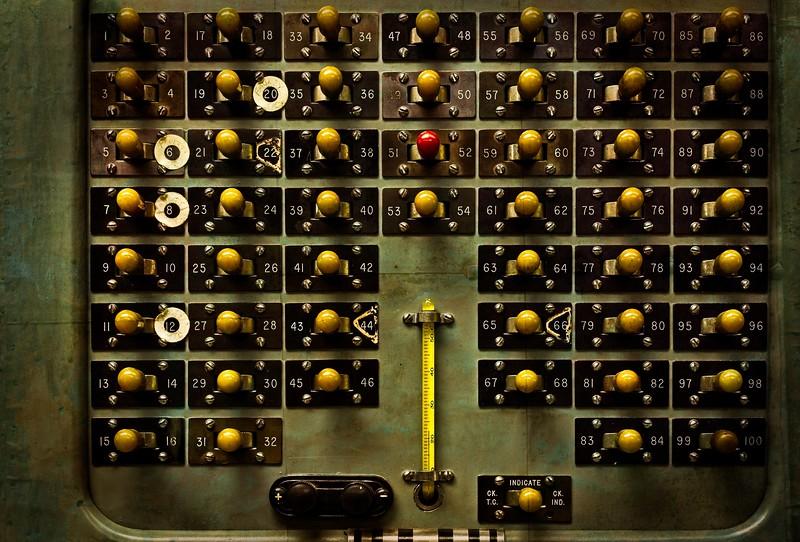 Detail from B Reactor Control Room, Hanford, Washington.<br /> © Cindy Clark