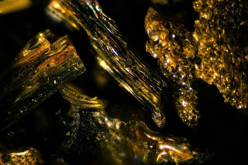 Microscopic view of Pele's Hair, volcanic glass.<br /> © Cindy Clark