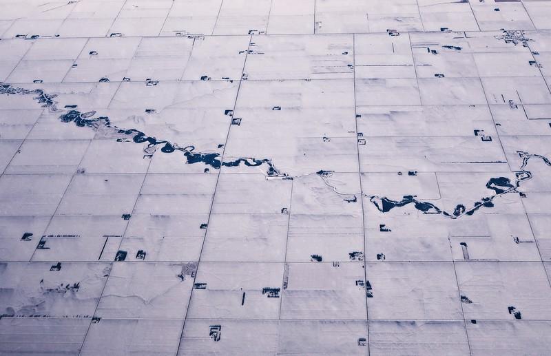 Northern plains aerial photo, December.<br /> © Cindy Clark