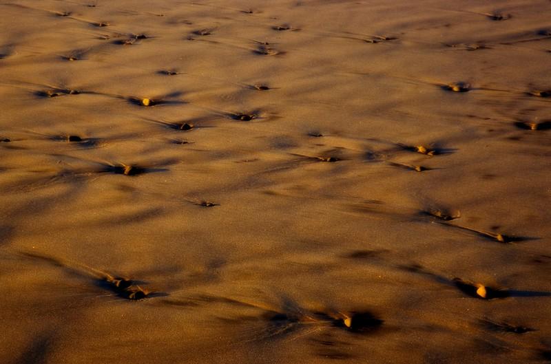 Shoreline sand. Hug Point, Oregon.<br /> Photo © Carl Clark