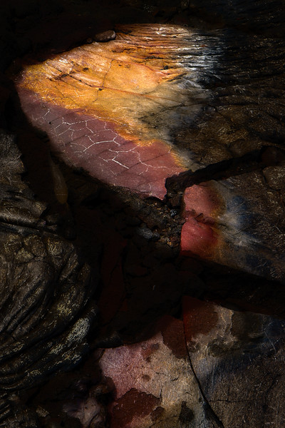 Detail from a lava flow Hawaii Island.<br /> © Cindy Clark