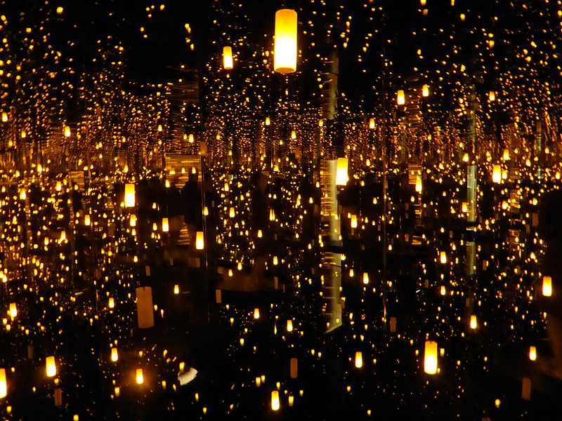 Part of Yayoi Kusama exhibit at the Seattle Art Museum.<br /> © Cindy Clark
