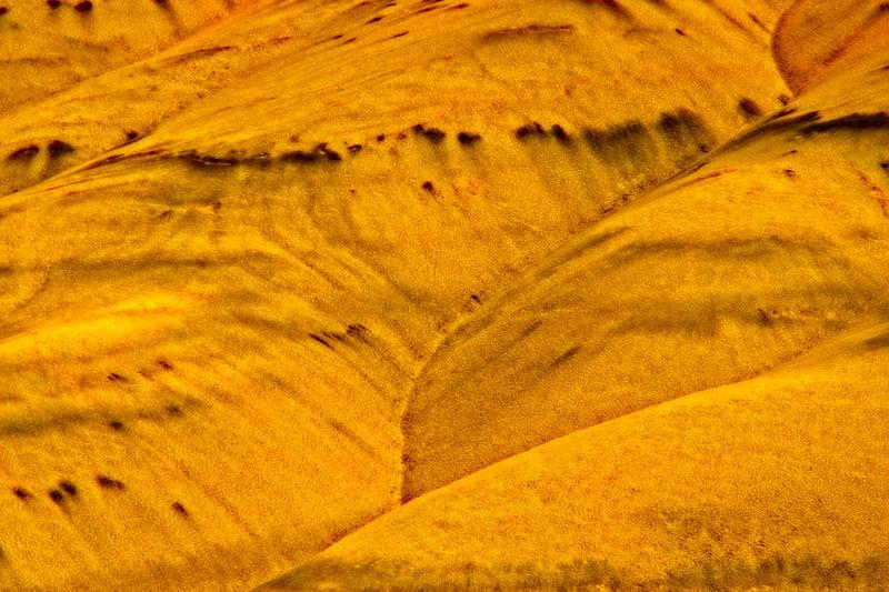 Ancient volcanic ash. Painted Hills, Oregon.<br /> Photo © Carl Clark