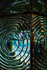 Detail from second order Fresnel lens, Cape Blanco Lighthouse, Oregon.<br /> © Cindy Clark