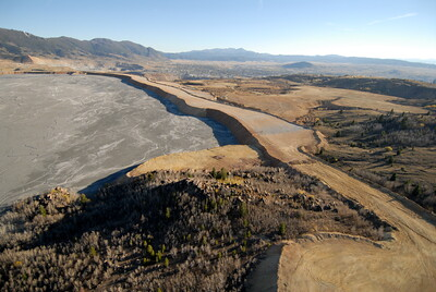 Sludge Lake above Berkeley Pit Butte Montana Aerial Photograph