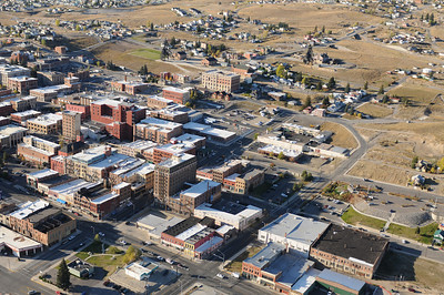 Aerial Photo View of Downtown Butte Montana Jim R Harris Bozeman Photographer