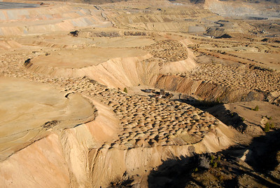 Berkeley Pit Mining Area Butte Montana Aerial Photograph