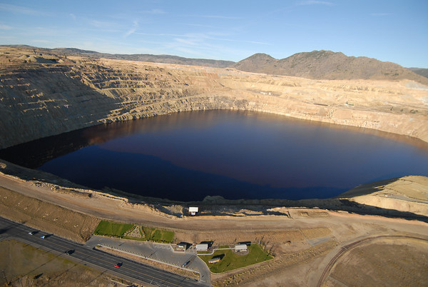 Butte Montana - Berkeley Pit & Downtown Aerial Photographs