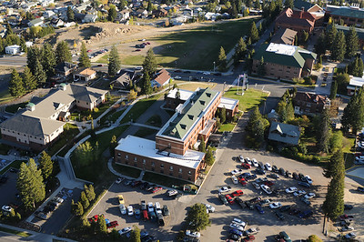 Aerial Photo of Montana Tech Campus Butte Montana