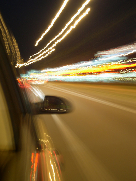 """Highway driving at night down the strip. <a href=""""http://www.maconnection.co.uk"""" rel=""""nofollow"""">www.maconnection.co.uk</a>"""