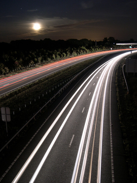 30 seconds or so exposure, on Polegate bypass flyover. www.maconnection.co.uk