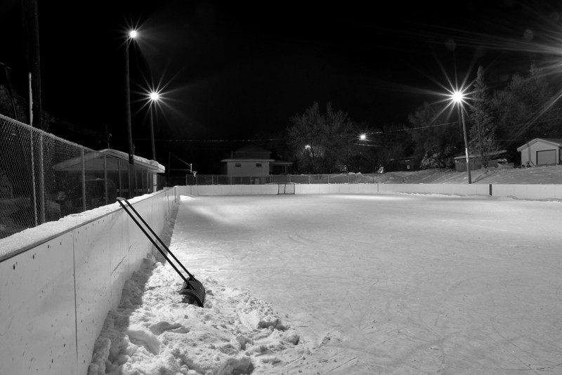 10 pm at a local hockey rink (Milestone Rink). -10C at the time.