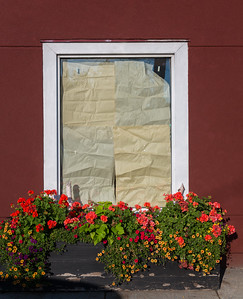 Window Box and Paper Blinds