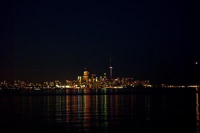 C N Tower at Night