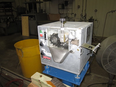 Chipper purchased with DOE funds. Part of the extruder systems