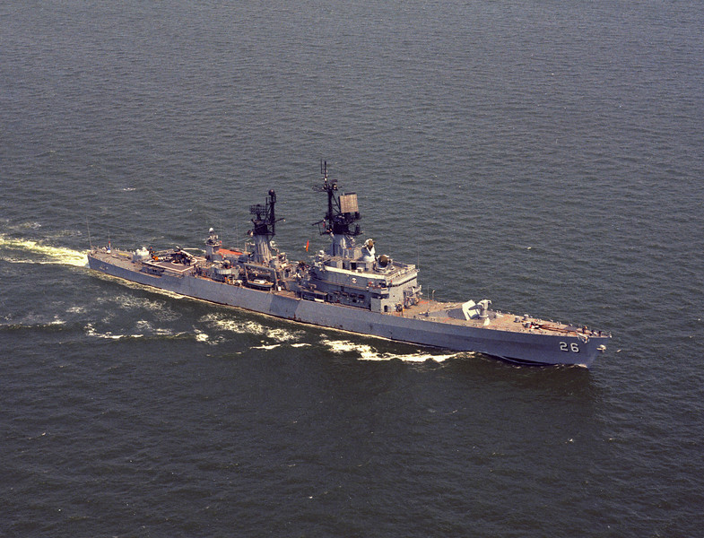 USS Belknap (CG-26)<br /> <br /> Date: May 1973<br /> Location: Hampton Roads VA<br /> Source: Nobe Smith - Atlantic Fleet Sales