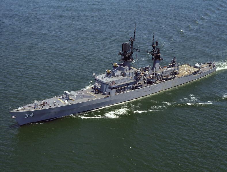 USS Biddle (CG-34)<br /> <br /> Date: July 7 1978<br /> Location: Hampton Roads, VA<br /> Source: Nobe Smith - Atlantic Fleet Sales