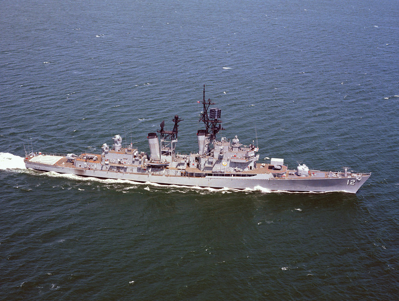 USS Dalghren (DLG-12)<br /> <br /> Date: April 1973<br /> Location: Hampton Roads VA<br /> Source: Nobe Smith - Atlantic Fleet Sales