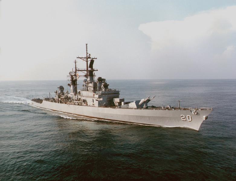 USS Richmond K. Turner (CG-20)<br /> <br /> Date: 1990<br /> Location: <br /> Source: US Navy
