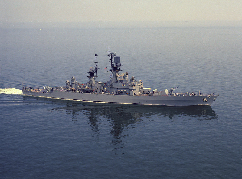 USS Leahy (CG-16)<br /> <br /> Date: April 25 1975<br /> Location: Hampton Roads VA<br /> Source: Nobe Smith - Atlantic Fleet Sales