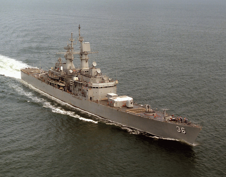USS California (CGN-36)<br /> <br /> Date: June 28 1983<br /> Location: Hampton Roads VA<br /> Source: Nobe Smith - Atlantic Fleet Sales