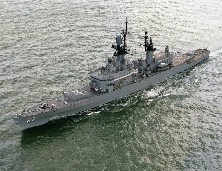 USS Josephus Daniels (CG-27)<br /> <br /> Date: March 3 1975<br /> Location: Hampton Roads, VA<br /> Souce: Nobe Smith - Atlantic Fleet Sales