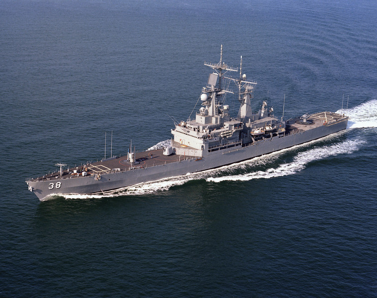 USS Virginia (CGN-38)<br /> <br /> Date: October 11 1977<br /> Location: Hampton Roads, VA<br /> Source: Nobe Smith - Atlantic Fleet Sales
