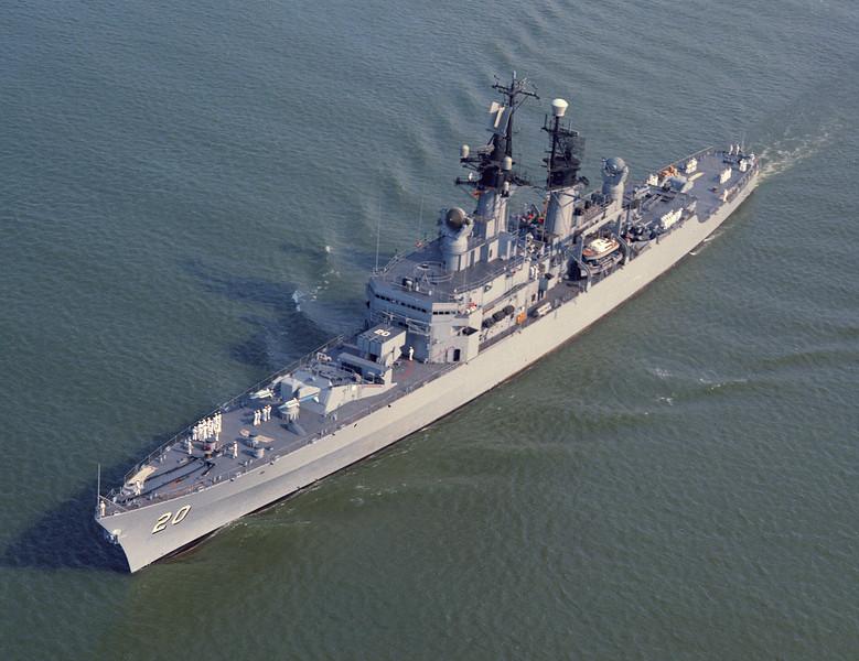 USS Richmond K. Turner (DLG-20)<br /> <br /> Date: August 1964<br /> Location: Hampton Roads, VA<br /> Source: Nobe Smith - Atlantic Fleet Sales