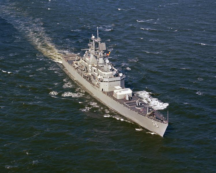 USS California (CGN-36)<br /> <br /> Date: February 19 1976<br /> Location: Hampton Roads VA<br /> Source: Nobe Smith - Atlantic Fleet Sales