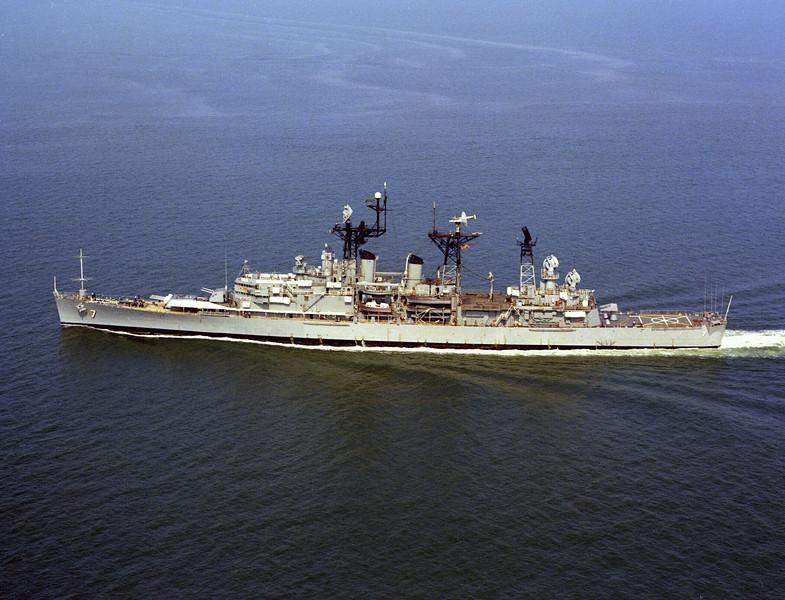 USS Springfield (CLG-7)<br /> <br /> Date: October 1973<br /> Location: Hampton Roads, VA<br /> Source: Nobe Smith - Atlantic Fleet Sales
