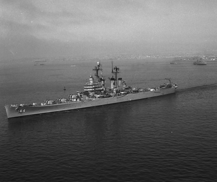 USS Worcester (CL-144)<br /> <br /> Date: August 11 1958<br /> Location: Long Beach CA  <br /> Source: Nobe Smith - Atlantic Fleet Sales