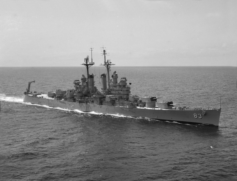 USS Manchester (CL-83)<br /> <br /> Date: April 1 1955<br /> Location: Either San Francisco or Long Beach<br /> Source: Nobe Smith - Atlantic Fleet Sales