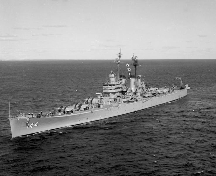 USS Worcester (CL-144)<br /> <br /> Date: November 24 1954<br /> Location: Newport RI  <br /> Source: Nobe Smith - Atlantic Fleet Sales