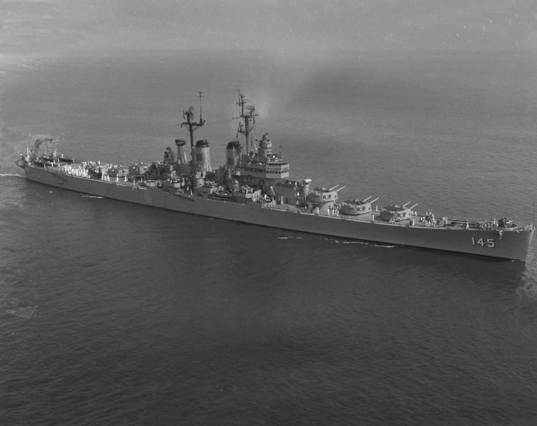 USS Roanoke (CL-145)<br /> <br /> Date: Unknown<br /> Location: Unknown<br /> Source: Nobe Smith - Atlantic Fleet Sales