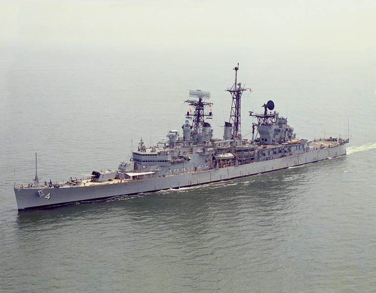 USS Little Rock (CLG-4)<br /> <br /> Date: August 1973<br /> Location: Hampton Roads, VA<br /> Source: Nobe Smith - Atlantic Fleet Sales