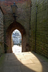 The archway on Greestone Stairs
