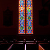 Church Seats and Stained Glass Window VC Nevada