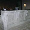 Custom Reception Desk wtih appliques and brackets