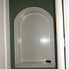Wall niche with radius top