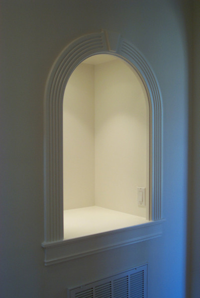 Niche installed with lighting