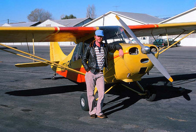 DON AND HIS BABY And here's Don and his beloved 1948 Aeronca 7AC Champ before our takeoff to head back to Oxnard. Needless to say, I was extremely jealous.