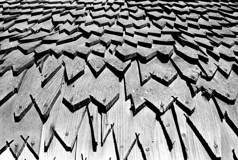 SOLVANG ROOFTOP<br /> I'd never seen shingles on a roof quite like these before, but they made for a nice graphic shot.