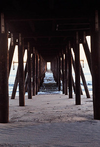 UNDER THE OXNARD PIER Ventura Shores, Oxnard  I'm always on the lookout for a nice perspective shot.